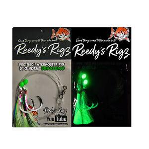 10x Snapper Rigs Paternoster Fishing Flasher Bottom Reef Surf Reedy's® UltraBait