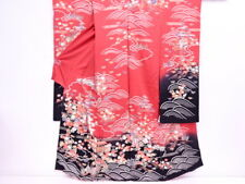 29290# JAPANESE KIMONO / VINTAGE KARIEBA FOR FURISODE / OUTLET ITEM / EMBROIDERY