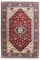 5x8 Hand Knotted Rugs Traditional Area Rug Wool Rugs Indian Handmade Blue Carpet
