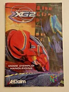 N64 Instruction Manual - Extreme-G XG2 - Nintendo - EUR (not UK) - NUS-NT2P-FAH