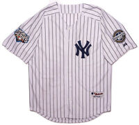 MAJESTIC New York Yankees Derek Jeter Jersey 2009 World Series Large L Fit
