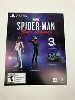 Unused Spiderverse Costume Insert for Spiderman Miles Morales on PS5 DLC ONLY