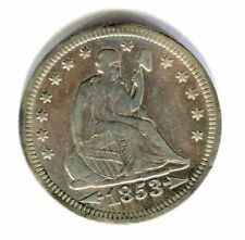 1853 arrows & rays LIBERTY SEATED QUARTER DOLLAR high grade