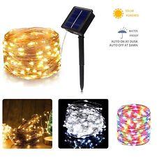 Cadena de luz LED Solar Luces Impermeable Al Aire Libre Jardín Fiesta de hadas de alambre de cobre