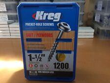 "Kreg Pocket Hole Screws - 1-1/2"", #8 Coarse, Washer-Head, Box 1200"