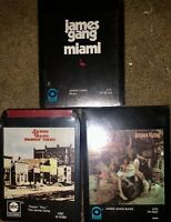 LOT OF 3 SEALED NEW JAMES GANG 8-TRACK TAPES MIAMI PASSIN' THRU JAMES GANG BANG
