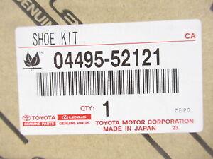 Genuine OEM Toyota 04495-52121 Rear Drum Brake Shoe Set Japan Built Only (VIN J)