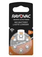 60 x Rayovac Acoustic Special Hörgerätebatterien 13 orange 4606 6er Blister