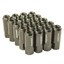 M14X1.5MM ALUMINUM TUNER RACING LUG NUTS JDMSPEED EXTENDED FORGED 60M BLACK 20PC