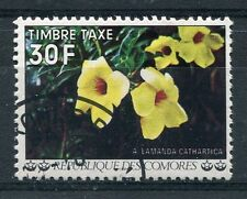 COMORES - 1977, timbre TAXE n° 12, FLEURS, ALLAMANDA CATHARTICA, oblitéré