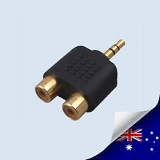 1 x AV RCA to 3.5 mm Audio jack Converter Adapter - NEW (N059C)