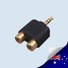 1 x AV RCA to 3.5 mm Audio jack Converter Adapter - NEW (N059C)