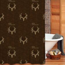 Bone Collector Shower Curtain, Antler Logo Michael Waddell