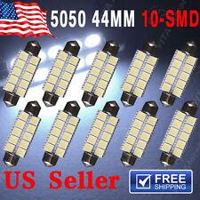 10PCS Cool white 44MM 5050 10SMD Festoon Dome Map LED Light bulbs 6411 578 211-2