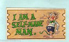 #D18.  A& BC  WACKY PLAK CARD #61 I AM A SELF MADE MAN