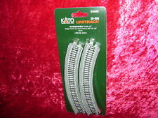 "Kato 20505 N UNITRACK CURVED VIADUCT R9 3/4"" 45 DEGREE 2-Pack Train Track New I"