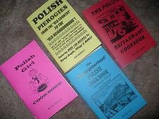 POLISH COOKBOOK LOT - 4 rare recipe books Pierogies, Old Neighborhood MUST SEE!!