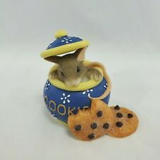 Fitz & Floyd Charming Tails Hi Cookie Mouse In Cookie Jar