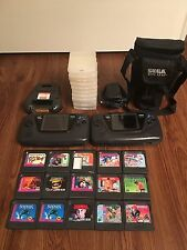 2 Sega Game Gears+ 15 Games+ Case Sonic Tom&Jerry Mickey Mouse Shinobi II Bundle