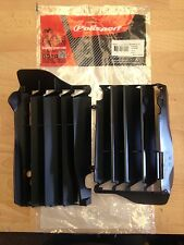 HONDA CRF 450 CRF450 2013-2014 POLISPORT RADIATOR LOUVRES RAD GUARDS BLACK