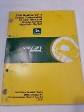 John Deere 7200 MaxEmerge Flex Fold Planter Owners Operators Manual