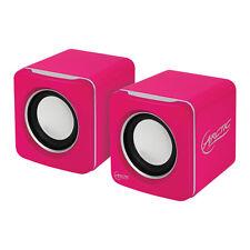 ARCTIC S111 (Pink) - 2.0 Lautsprecher Multimedia Boxen für Notebook - PC