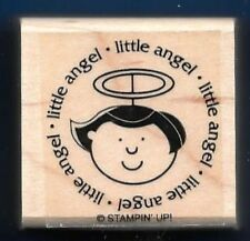 LITTLE ANGEL Halo Holiday CENTER POST SEAL Stampin' Up! Gift Tag RUBBER STAMP