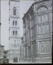 Giotto's Tower, Florence, Italy, Vintage Magic Lantern Glass Photo Slide