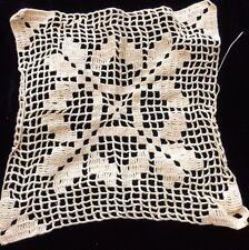 Antique Doily Cotton Dolls Cradle Blanket Primitive Table Doily Altered Art