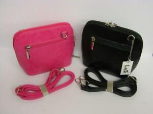 A Crossbody Bag in soft Faux Leather with matching strap in a choice of colours