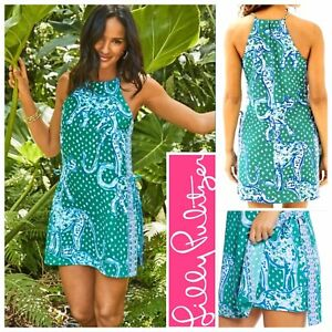 NWT $198 Lilly Pulitzer Pearl Romper 14 Emerald Isle Green On The Prowl Engineer