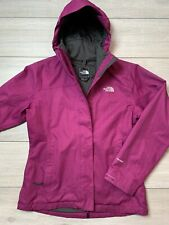 Women's THE NORTH FACE HYVENT Hooded Jacket Size Medium M | Magenta [w/ defects]