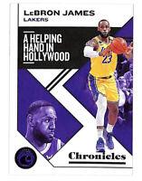 2019-20 Panini Chronicles #10 LeBron James base card Lakers