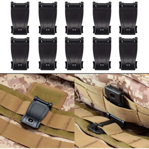 Tactical MOLLE Clip Strap Management Tool Web Dominator Buckle for Backpack