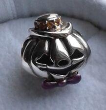 Retired Genuine CHAMILIA 925 Silver HALLOWEEN GENTLEMAN JACK PUMPKIN Charm