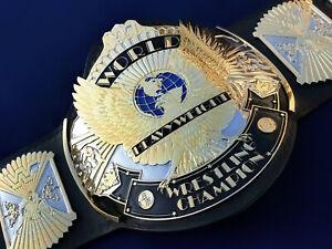 WWE WINGED EAGLE CHAMPIONSHIP WRESTLING REPLICA TITLE LEATHER BELT WWF