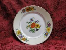 "Thun Thu71 Floral Rim & Center, Cream Band: Bread Plate (s), 6"""