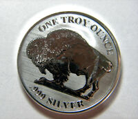 ASAHI BUFFALO REVERSE PROOF 1 oz SILVER ROUND .999 FINE GEM BU COIN from Roll