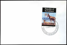 Somaliland 1998 Hartebeest Official Blue Overprint Cover #C33800