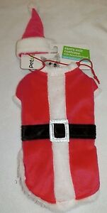 New Dog XS/Small Santa Suit Costume Red White Faux Fur Christmas  2 piece set
