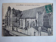 CPA LOUDUN (VIENNE 86) VUE GENERALE DE L'EGLISE DU MARTRAY. TIMBREE 1907.