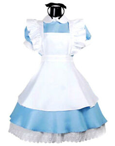 Girls Alice Costume Teen Child Alice Wonderland Book Day Fancy Dress Outfit