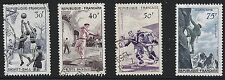 France Scott #801-04, Singles 1956 Complete Set FVF Used/MNH