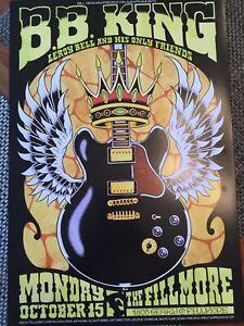 B.B.King Fillmore Poster 898 October 15, 2007 Concert Alan Forbes Bill Graham
