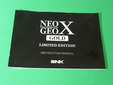 Neo Geo X Gold Limited Edition Instruction Manual