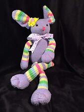 "Hobby Lobby Stores EASTER BUNNY RABBIT 23"" Lilac Multi Colors Poses Beautiful"