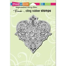 """Stampendous Cling Stamp 6.5""""X4.5""""-Heart Vines"""