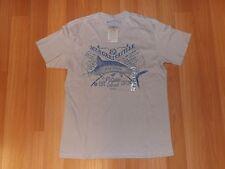 NWT Mens MARGARITAVILLE Cement Beige Paradise Island T Shirt Size Medium M