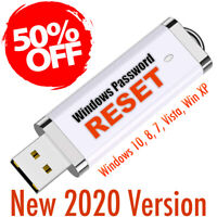 Windows Password Recovery Reset 2020 on USB for Windows 10, 8.1, 8, 7, Vista, XP