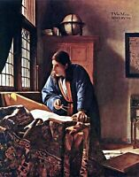 The Geographer by Dutch Johannes Vermeer. People Repro choose Canvas or Paper
